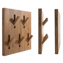 ATTACCAPANNI GIVE ME 5 - PORTA ACCAPPATOI IN TEAK NATURALE