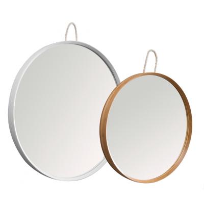 Specchi Tondi Varie Misure.Specchio Tondo In Bamboo Listellare Laccato Naturale E Bianco Opaco In Varie Dimensioni
