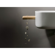 LAVABO DESIGN IN LEGNO CON MENSOLA EVER BOUNCE PAN