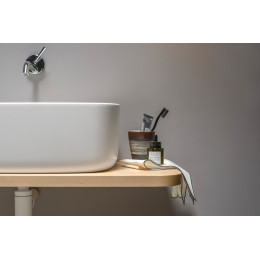 LAVABO DESIGN CON MENSOLA EVER BOUNCE COUNTER IN LEGNO