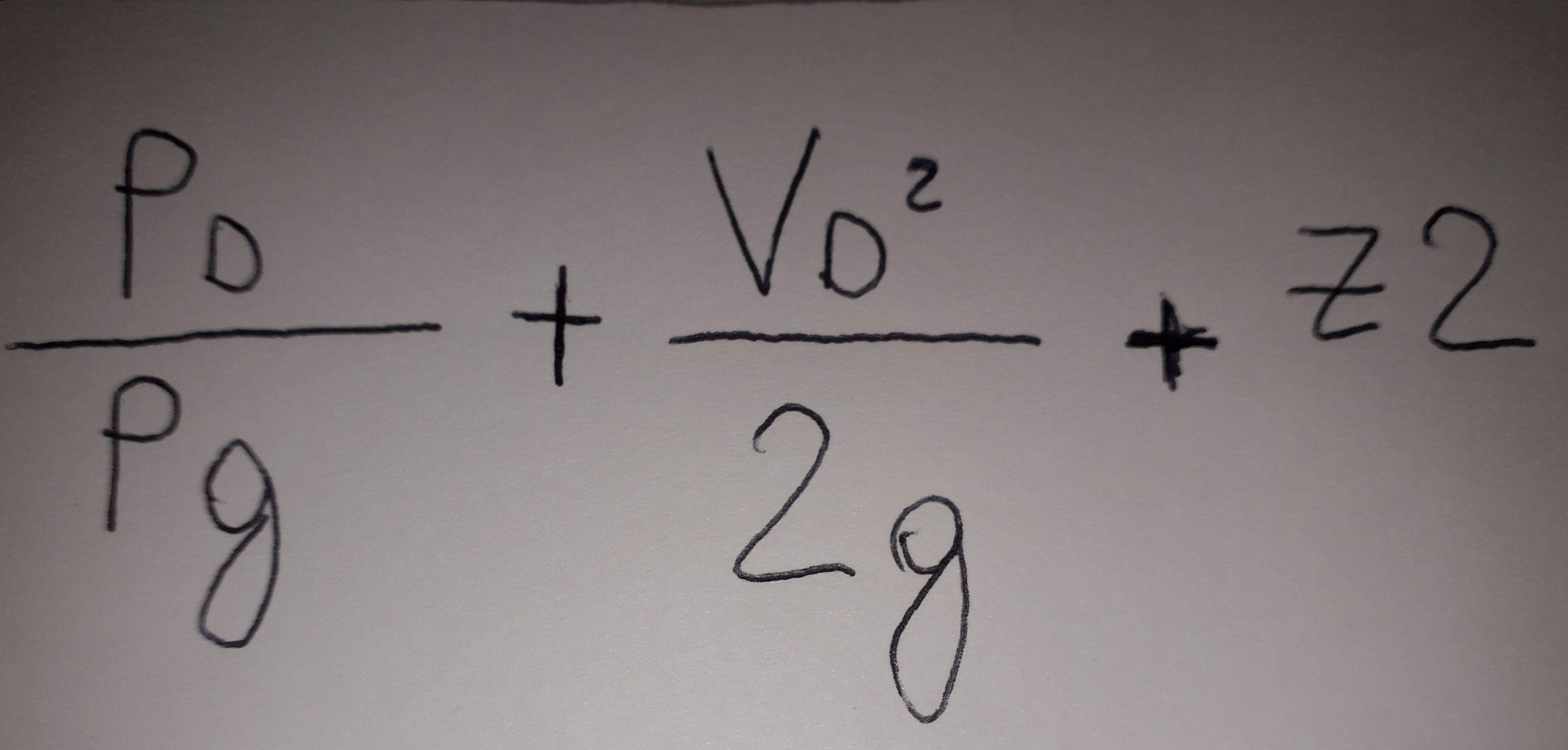 formula punto D pompa centrifuga