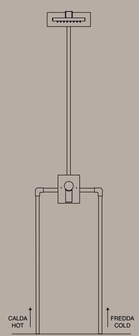 Soffione doccia a parete design frattini rubinetteria slim - Rubinetteria bagno frattini prezzi ...