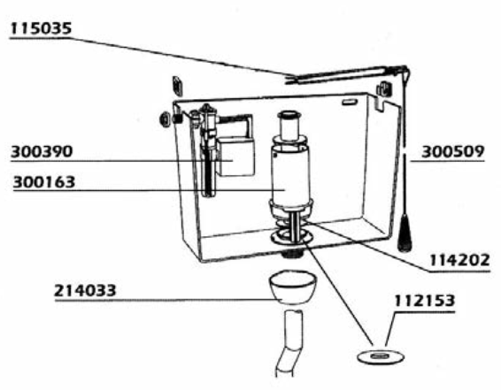 Cassetta wc alta vaschetta kariba kombi - Cassetta scarico wc esterna montaggio ...
