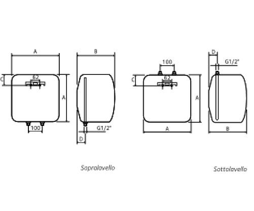 Scaldacqua elettrici piccole capacita 39 chaffoteaux for Scaldacqua in rame