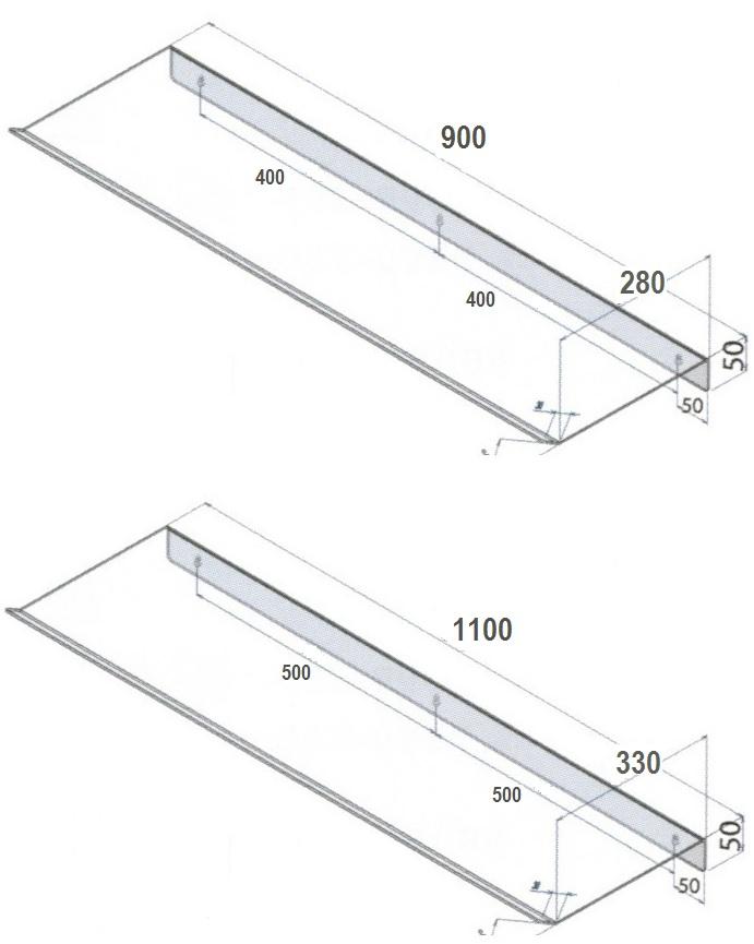 Sistemi Fissaggio Mensole A Scomparsa.Deflettore Bianco Aria Condizionata Mensola Deviatore Getto D Aria