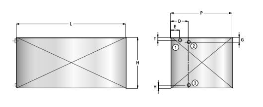 disegno tecnico serbatoio inox da 300 litri