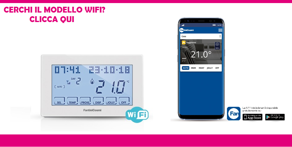 Cronotermostato touch screen fantini cosmi ch180 for Intellicomfort ch180