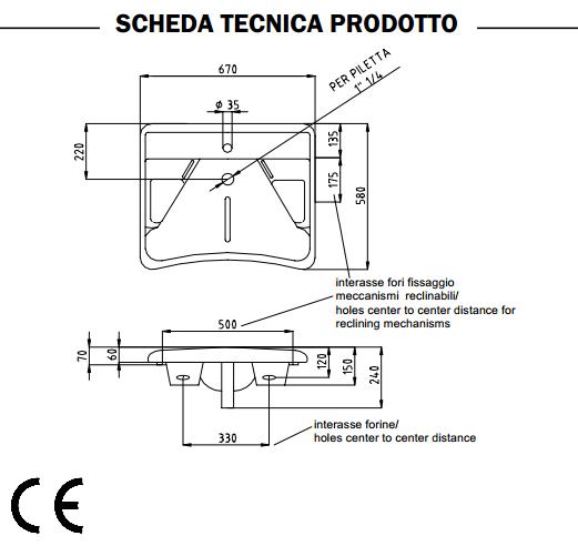 Misure bagni disabili cheap misure bagni disabili with - Dimensioni water piccolo ...