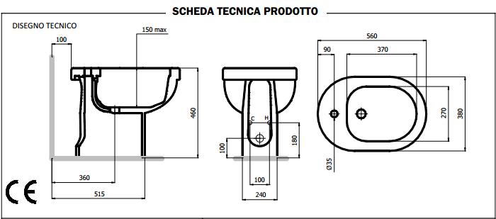 Bidet per disabili sanitari bagno senior thermomat - Misure sanitari bagno ...