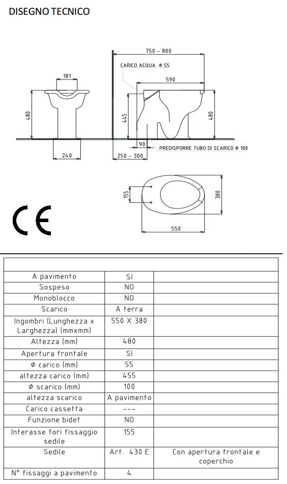 Accessori Bagno Disabili Thermomat.Water Per Disabili Scarico A Pavimento Basic Thermomat