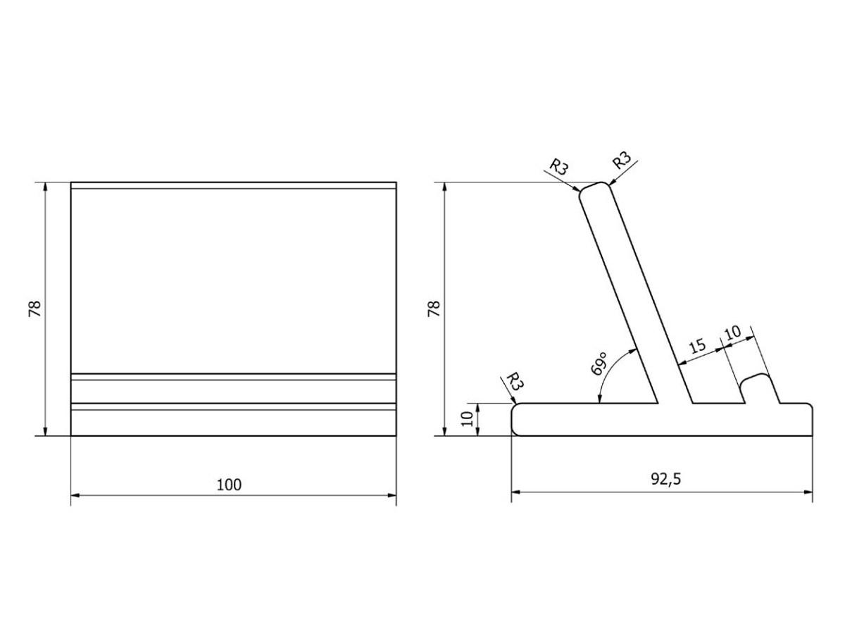 Porta ipad poggia tablet accessori bagno design ever - Misure accessori bagno ...