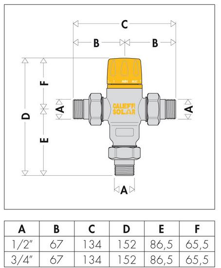 Pannello Solare Solcrafte : Miscelatore termostatico caleffi per pannello solare quot