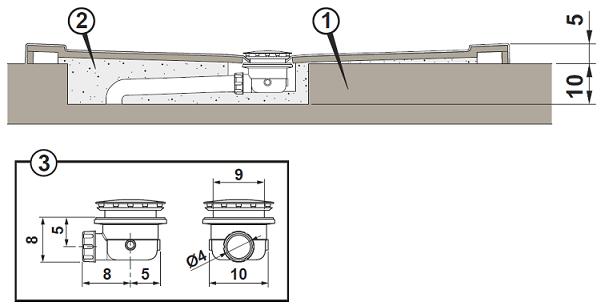 Piatto doccia azzurra in acrilico 80x100 - Piatto doccia incassato nel pavimento ...