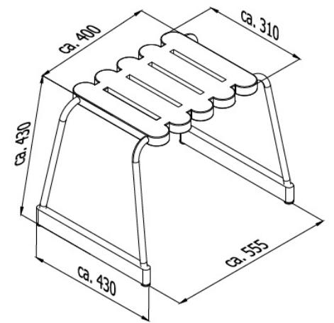 disegno tecnico sgabello da bagno
