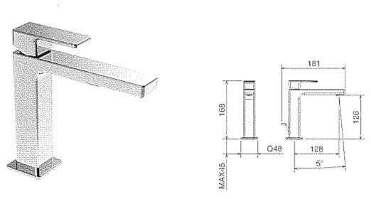 Miscelatore lavabo rubinetteria per bagno la torre profili - Misure lavabo bagno ...