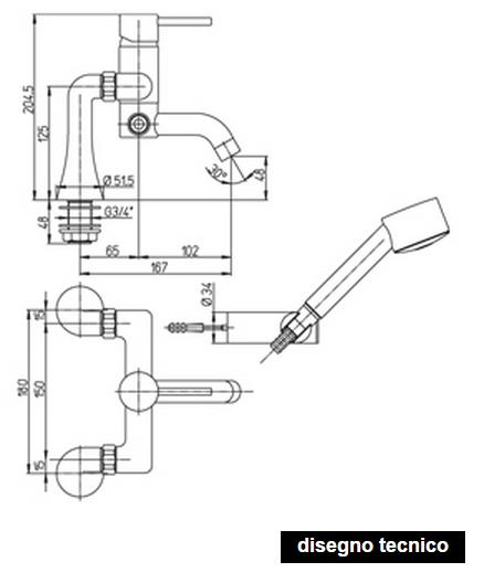dimensioni rubinetti paini cox