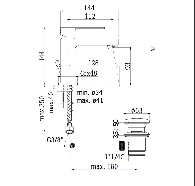 caratteristiche tecniche paffoni elle lavabo design