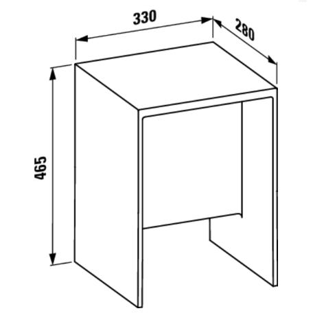 dimensioni dello sgabello kartell trasparente