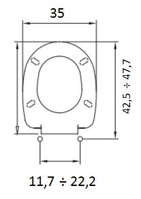 Copriwater universale luna sedile wc ideal standard for Misure copriwater ideal standard
