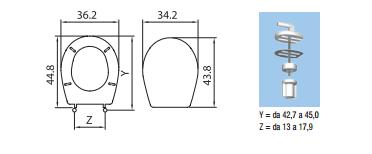 Sedile wc colibri 39 2 copriwater pozzi ginori - Dimensioni water piccolo ...