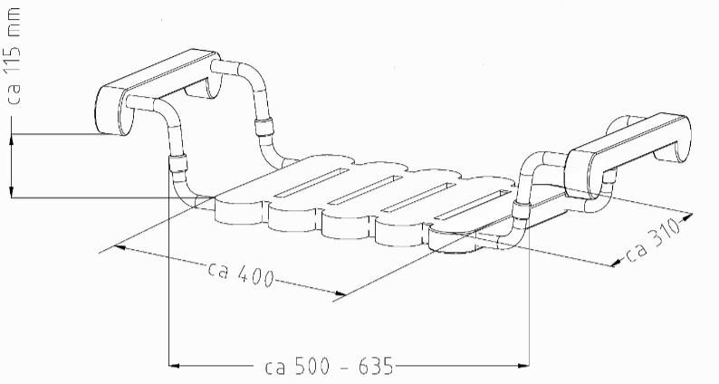dimensioni sedia vasca da bagno