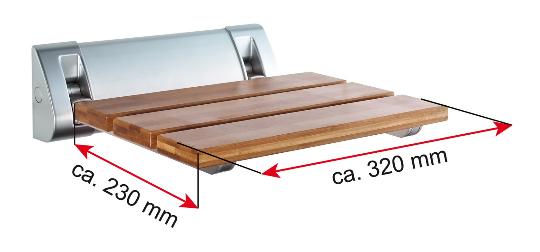 dimensioni seggiola in legno per box doccia
