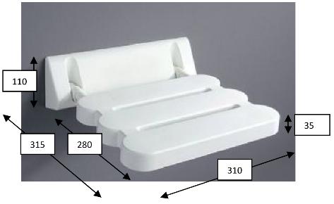 Sedile Doccia Per Disabili : Seggiolino reclinabile doccia compatto bianco