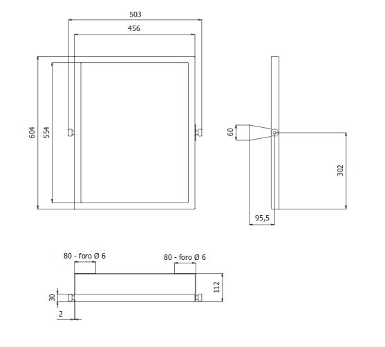 Specchio Reclinabile Per Disabili 50x60 Cm